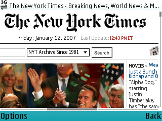 nytimes.com on E61 OSS at 75% Zoom